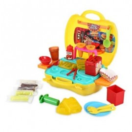 image of BOWA SUITCASE TOY KIDS PLAY DOUGH CINEMA SNACK BAR (COLORMIX) 0