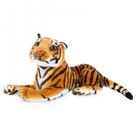image of CUTE SIMULATION TIGER DOLL PLUSH TOY GIFT DESK DECOR FOR KIDS (BROWN) One SIze