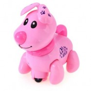 image of ELECTRONIC MUSIC LIGHT WALKING PUPPY DOG PRESCHOOL EDUCATIONAL TOY FOR CHILDREN (PINK) -