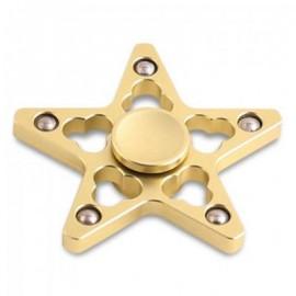 image of STRESS REDUCER STAR SHAPED EDC FIDGET SPINNER FINGER GYRO (GOLDEN) 7*7*1.5CM