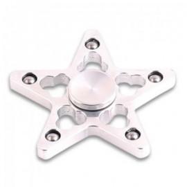 image of STRESS REDUCER STAR SHAPED EDC FIDGET SPINNER FINGER GYRO (SILVER WHITE) 7*7*1.5CM