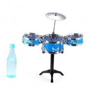 image of JAZZ ROCK DRUMS SET KIDS TOY MUSICAL INSTRUMENT CHRISTMAS BIRTHDAY PRESENT (BLUE) One SIze