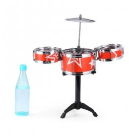 image of JAZZ ROCK DRUMS SET KIDS TOY MUSICAL INSTRUMENT CHRISTMAS BIRTHDAY PRESENT (RED) One SIze