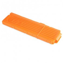 image of 18 SHOTS KIDS PLASTIC QUICK RELOAD CLIP FOR SOFT DART GUN (LUMINOUS ORANGE) One Size