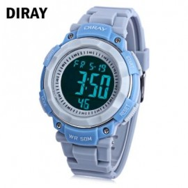 image of DIRAY DR - 306G CHILDREN DIGITAL WATCH CHRONOGRAPH BACKLIGHT ALARM DAY DATE DISPLAY 5ATM WRISTWATCH (BLUE+GRAY) 0