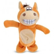 image of ELECTRIC TALKING WALK ANIMALS RECORDING PLUSH TOY (BROWN) 0