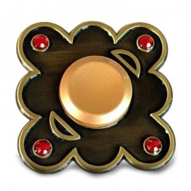 image of STRESS RELIEF FINGER GYRO ALLOY FIDGET TOY EDC SPINNER (BLACK) -