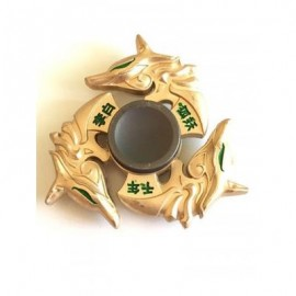 image of LI BAI THREE DRAGONS TRIANGLE FINGER GYRO HAND SPINNER (GOLDEN) -