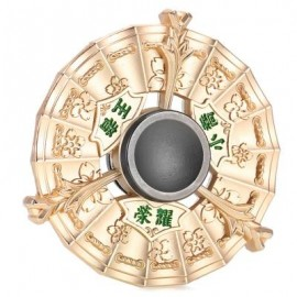 image of ZINC ALLOY WIND FIRE WHEEL GYRO WITH STAINLESS STEEL BALL BEARINGS STRESS RELIEVER FOR OFFICE WORKER (GOLDEN) -