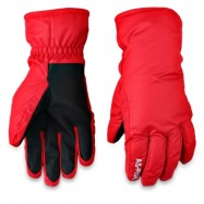 image of PAIRED UNISEX WATER RESISTANT WINDPROOF WARM SNOWBOARD GLOVES (RED) M