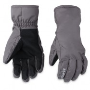 image of PAIRED UNISEX WATER RESISTANT WINDPROOF WARM SNOWBOARD GLOVES (GRAY) L