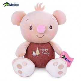 image of METOO STUFFED CUTE BIG FOOT PLUSH DOLL COMFORTER TOY (BROWN) -