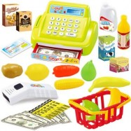 image of CHILDREN MULTI-FUNCTION SIMULATION SUPERMARKET CASH REGISTER PLAYING HOUSE TOYS (IVY) 0