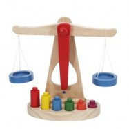 image of BALANCE SCALE TOY (WOOD) 0