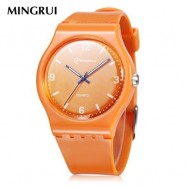 image of MINGRUI MR - 8822 KIDS QUARTZ WATCH 30M WATER RESISTANCE LUMINOUS POINTER WRISTWATCH (SWEET ORANGE) 0