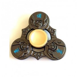 image of ZHUGE LIANG TRI FIDGET SPINNER FOCUS TOY FINGER RELAXATION GIFT (GREEN BROWN) -
