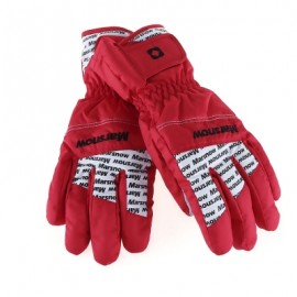 image of MARSNOW PAIRED WATERPROOF WINDPROOF THICKEN WARM PROTECTION ANTI-SLIP OUTDOOR MOTORCYCLE CYCLING GLOVES (RED) M
