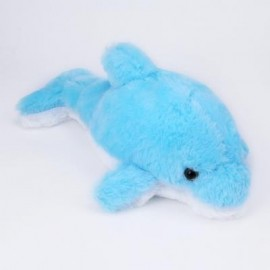image of STUFFED CUTE FLASHING DOLPHIN PLUSH DOLL TOY BIRTHDAY CHRISTMAS GIFT FOR BABY (ICE BLUE) -