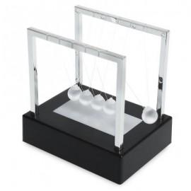 image of 2CM LUMINOUS GROUND GLASS PENDULUM NEWTON CRADLE BALANCE BALL FOR DESKTOP DECORATION (COLORMIX) -