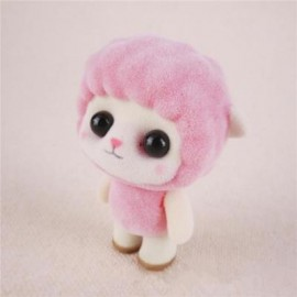image of MINI LOVELY FLOCKING PINK SHEEP DOLL FURNISHING ARTICLES KIDS GIFT (PINK) 0