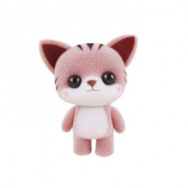 image of MINI LOVELY FLOCKING COFFEE CAT DOLL FURNISHING ARTICLES KIDS GIFT (COFFEE) 0