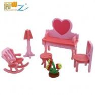 image of MUWANZI 3D WOODEN PUZZLES CHILDREN INTELLIGENCE GAME TOYS (LIGHT PINK) -