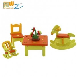 image of MUWANZI 3D WOODEN PUZZLES CHILDREN INTELLIGENCE GAME TOYS (ORANGE) -