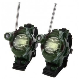 image of 2PCS 7 IN 1 WALKIE TALKIE WATCH CAMOUFLAGE STYLE CHILDREN TOY (CAMOUFLAGE) One Size