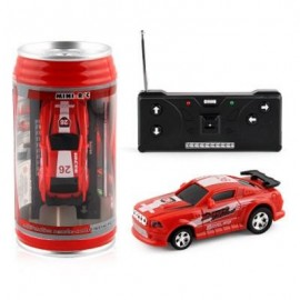 image of HIGH-SPEED MINI RECHARGEABLE CAR LIGHTS CHARGING COKE CANS OF REMOTE CONTROL TOYS (RED) 0