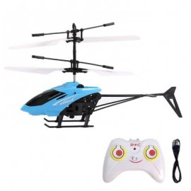 image of FLASHING LIGHT INDUCTION HELICOPTER TOY FOR KIDS (BLUE) 0