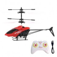 image of FLASHING LIGHT INDUCTION HELICOPTER TOY FOR KIDS (RED) 0