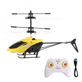 image of FLASHING LIGHT INDUCTION HELICOPTER TOY FOR KIDS (YELLOW) 0