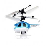 image of INDUCTION HELICOPTER RECHARGEABLE REMOTE CONTROL HELICOPTER CHILDREN TOYS (BLUE) 0