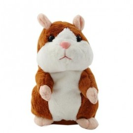 image of MAGIC TALKING HAMSTER PULSE TOY (BROWN) 8 X 8 X 13CM