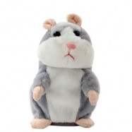 image of MAGIC TALKING HAMSTER PULSE TOY (GRAY) 8 X 8 X 13CM