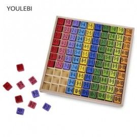 image of YOULEBI MULTIPLICATION TABLE EDUCATIONAL TOY 10 X 10 FIGURE BLOCKS FOR CHILD (COLORMIX) -