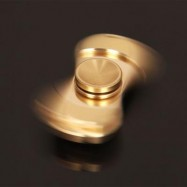 image of 4 MIN ROTATING ANTI STRESS TOYS COPPER FINGER GYRO (GOLDEN) -