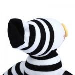 BABY HANDMADE BLACK WHITE STRIPED SOCK CLOWN DOLL STUFFED TOY (WHITE AND BLACK) -