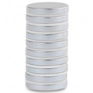 image of 10PCS 20 X 3MM N50 DISC RARE EARTH NEODYMIUM SUPER STRONG MAGNETS (SILVER) -