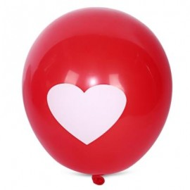 image of 100PCS LOVE PATTERN LATEX BALLOON WEDDING FESTIVAL DECOR (RED) -
