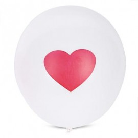 image of 100PCS LOVE PATTERN LATEX BALLOON WEDDING FESTIVAL DECOR (WHITE) -