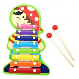 image of QIAOMUJIANG WOODEN 8 TONES HAND KNOCK PIANO FOR KIDS (COLORMIX) LOVELY SNAIL