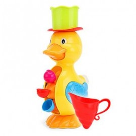 image of BABY BATH TAPS SQUIRT WATER BUTTRESSED SPRAY SHOWER TOY DUCK SHAPE (YELLOW) -