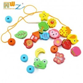 image of MUWANZI WOODEN BEADED BUILDING BLOCKS TODDLER GAME TOYS (FRUITS) -