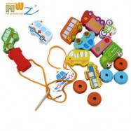 image of MUWANZI WOODEN BEADED BUILDING BLOCKS TODDLER GAME TOYS (URBAN CAMOUFLAGE) -