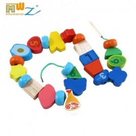 image of MUWANZI WOODEN BEADED BUILDING BLOCKS TODDLER GAME TOYS (DIGITAL CAMOUFLAGE) -