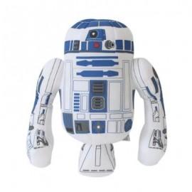 image of ROBOT PLUSH DOLL CARTOON STUFFED TOY GIFT FOR BOYS (WHITE + BLUE) 32CM