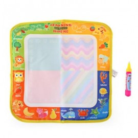 image of MAGIC ANIMAL WATER DRAWING WRITING MAT TOY WITH WATERCOLOR PEN FOR KIDS (COLORMIX) One Size