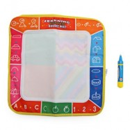 image of MAGIC LETTER WATER DRAWING WRITING MAT TOY WITH WATERCOLOR PEN FOR KIDS (COLORMIX) One Size