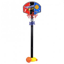 image of FUNNY ADJUSTABLE BASKETBALL STAND SUPER SPORT SET CHILD TOY WITH INFLATOR PUMP (COLORMIX) One Size